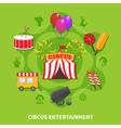Circus entertainment concept vector image