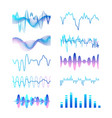 collection of different gradient colored sound vector image vector image