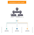company employee group people team business flow vector image