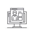 competences line icon concept competences vector image vector image