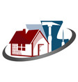 construction houses vector image