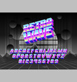 cool typeface retro wave vector image vector image