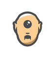 cute cyclops head icon cartoon vector image