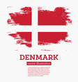 denmark flag with brush strokes vector image vector image