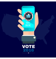 Digital usa election with vote 2016 online vector image vector image