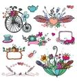 Doodle floral grouphand sketched vintage element vector image vector image