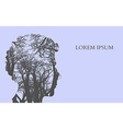 Double exposure Man Silhouette and tree Double vector image vector image
