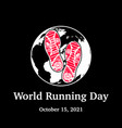 earth shoes running day wallpaper vector image