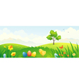 Easter chicken banner vector image