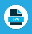 file svg icon colored symbol premium quality vector image vector image