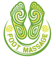 foot massage symbol vector image vector image