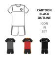 form of the belgian football teamthe dark belgian vector image vector image