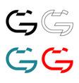 g logo monogram vector image vector image
