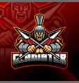 gladiator esport mascot logo design vector image