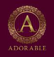 golden logo template for adorable boutique vector image vector image