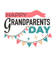grandparents day isolated icon elderly family vector image