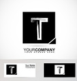 Grunge alphabet logo letter T vector image vector image