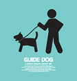 Guide Dog Graphic Symbol vector image vector image