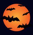 halloween bats and moon sign 109 vector image
