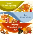Happy Thanksgiving Day banners with vector image vector image
