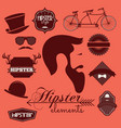 hipster elements vector image vector image