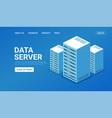 isometric data center server technology server vector image vector image