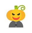 jack o lantern character halloween related icon vector image vector image