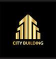 landscape city building logo vector image