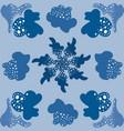 light blue pattern abstract symbol modern set vector image