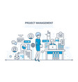 management planning process control vector image vector image