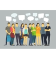 Many ordinary people crowd talking Communication vector image vector image