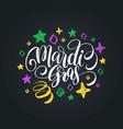 mardi gras hand lettering fat or shrove vector image