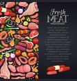 meat products with vegetables vector image vector image