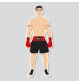 Muay tai fighter vector image vector image
