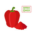 paprika red bell pepper pile of condiment vector image vector image