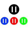pause glyph icon vector image