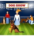 People Wigh Dogs Poster vector image vector image