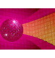 pink disco ball funky background vector image vector image