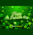 poster for irish holiday st patricks day banner vector image