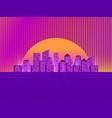 retro futuristic city in the style of the 80s vector image