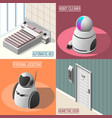 robotized hotels 2x2 design concept vector image vector image