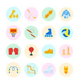 set flat icons sports equipment vector image vector image