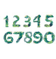 set leaf numbers with different types green vector image vector image
