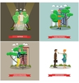 set of photo and video concept posters vector image vector image