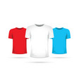 set of three shirts with different colors vector image
