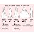 Set of wedding dress styles vector image