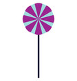 spiral-shaped purple-colored lollipopcandy or vector image vector image