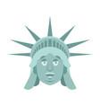 statue of liberty happy emoji us landmark statue vector image vector image