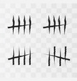 tally marks on the wall vector image