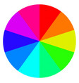 template wheel fortune color palette vector image vector image